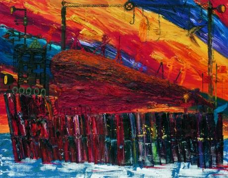 欧阳春 《捕鲸船(二)》 220×280cm 布面油画 2006