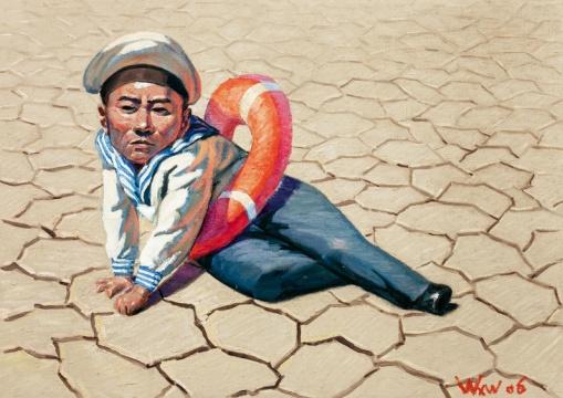 王兴伟《小海军》 115.8×163cm布面油画 2006
