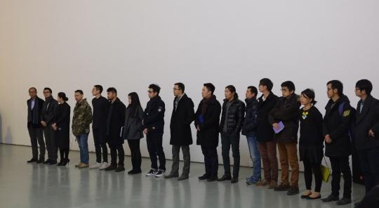 """以""""NAISSANCE""""为主题的24计划正式于今日美术馆1号馆启动 现场合影"""