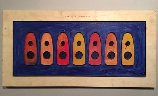 三无画廊代理艺术家许家其 《船》 40x80cm 木版刀片 2014