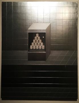 黄一山《2杯塔》 布面综合材料 100x80cm 2015