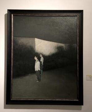 伍思波  《开发中的会展中心》  布面油画 120x90cm 2010