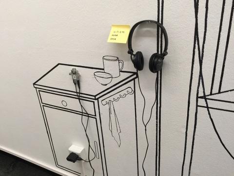 吴超混合媒材装置作品《植物人视听唤醒项目(跨学科合合作项目)》 2014