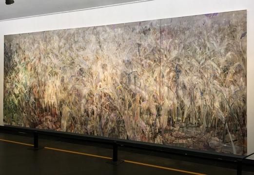 罗奇 《迷草》 250x600cm 布面油画 2014