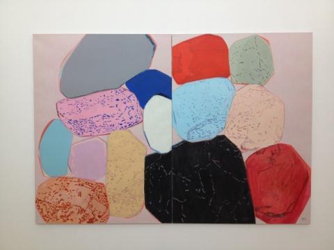张晖2012年的作品就已经对色彩开始了研究