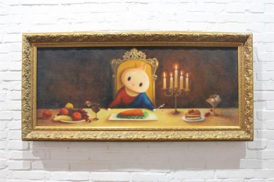 刘晓俊作品,精致生活与小兔的表情构成对照,反差之余、唯美的画面背后是积极面对生活的能量