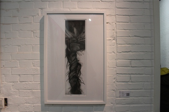 丁欣铜版画《假发》系列