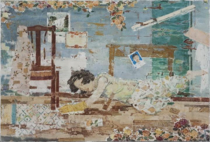 蜂巢当代艺术中心的夏禹作品 《摔倒的主妇 》