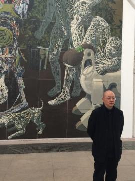 """此次展出的作品与一周前在上海阿拉里奥画廊开幕的艺术家个展""""遣词"""