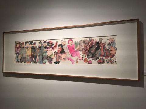 李津 《春天的穿越》53×230cm 纸本水墨 2015