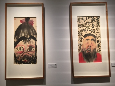 李津2014年创作的《头像》系列作品