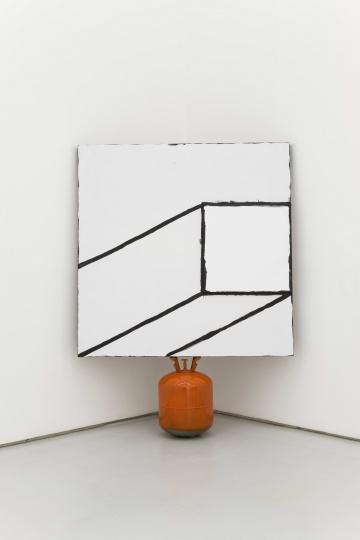 《Al Held + Mehlli Gobhai + Victoria Morton》 165×120×30cm 布面丙烯,氢气瓶