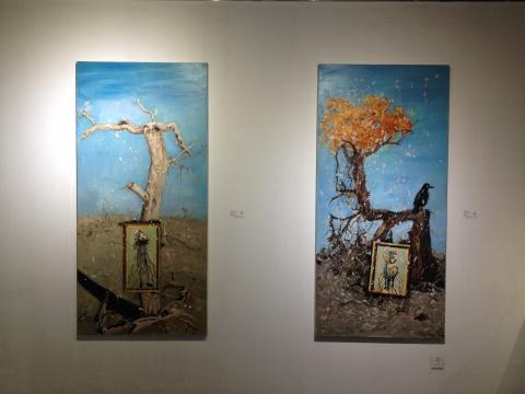 《历史备忘录系列1、2》 200×95cm×2 布面油画 2010年