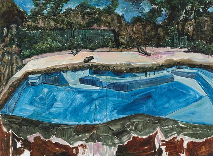 《动物园-泳池》布面油画 110×150cm 2013年