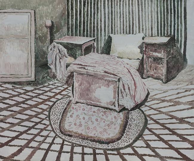 《卧室》布面油画 150×180cm 2014年