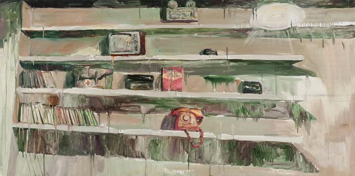 《书架》布面油画 80×150cm2013年