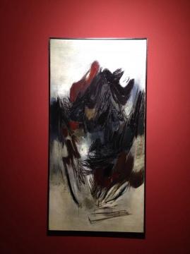 朱德群 《第97号》 120×60cm 布面油画 1961