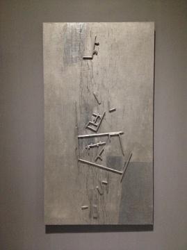 王怀庆 《再寻找》 220×120cm 布面木板油彩及综合材料 2002