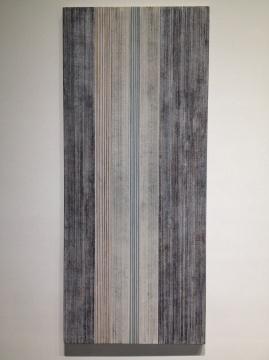 吕振光 《山水第T零零一八号》 213.5×91.5cm 亚麻布面丙烯 2014