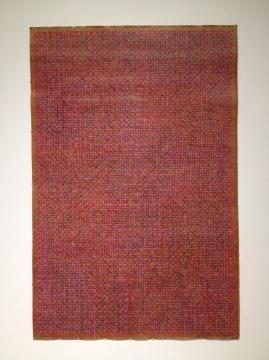 丁乙 《十示1997-B5》 260×160cm 瓦楞纸、炭笔和粉笔 1997