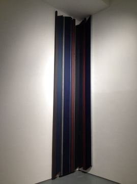 刘可 《大蓝幕》 450×98cm、450×46cm 布面油画、丙烯、织物染料、水性染料 2014
