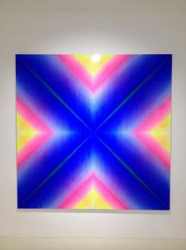 王一 《地点2015-3》 190×190cm 布面综合材料 2014-2015