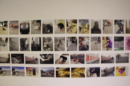 二层展厅 灰尘计划征集过程的部分资料展示