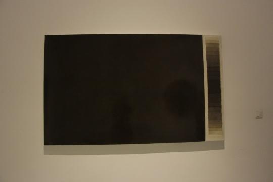 一层展厅 《灰尘150304》 200×120cm 布面灰尘 2015