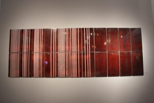 温·海格比 《落地线》 60×335.3cm 2015