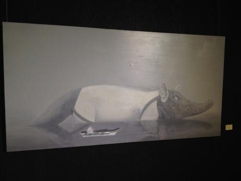 刘赢 《20120925》 200×100cm 布面油画 2014