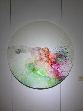赵瑞鸣 《风景》 直径80cm 布面油画 2014