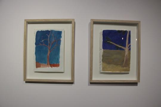 段建伟 《树2》、《树1》25×34cm纸本水彩 2014