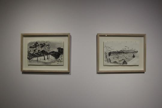 段建伟 《确山2》、《确山1》42×28cm 纸本水彩2012