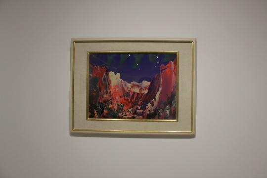 尹朝阳 《石门山谷》46.5×35.5cm纸本丙烯 2015