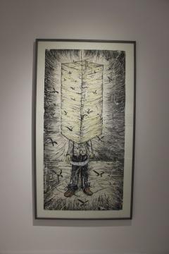 李继开《 灯笼》73.5×148cm 纸本丙烯水墨 2010
