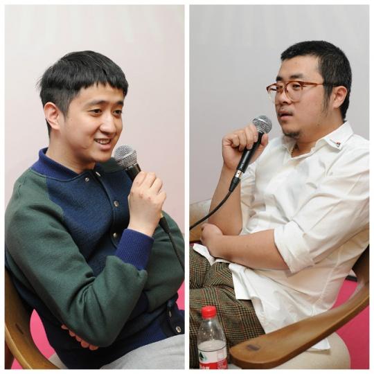 郝量(左)和陈飞