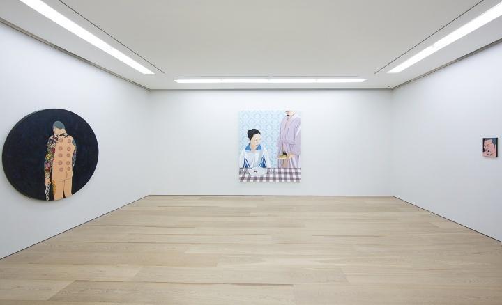 """陈飞于2014年初在贝浩登香港空间举办的个展""""我和肉"""""""