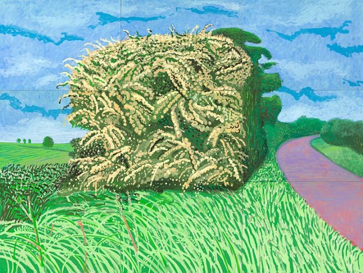 《The Big Hawthorne》,274.32×289.5cm,布面油画,2008年,© David Hockney