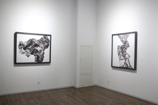 《沉浮 之三》 100×120cm 布面油画 2015、《沉浮 之四》 120×100cm 布面油画 2015