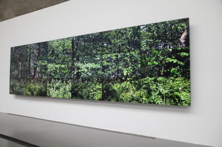 《七个约克郡风景》作品现场,18个数码影像同步播放于18台NEC显示器组成一件作品,2011年,摄影:吴丹丹