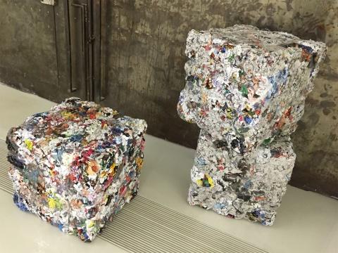 史昊鹏作品《纸媒的古典雕塑法》