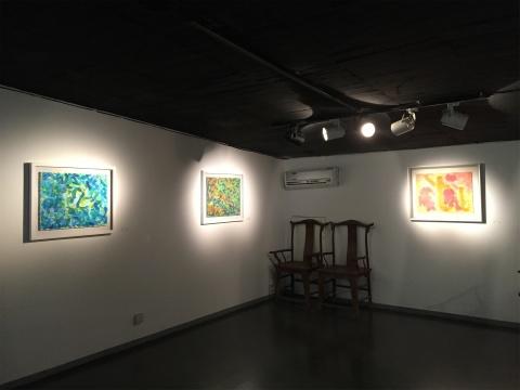 二楼展厅的水彩作品