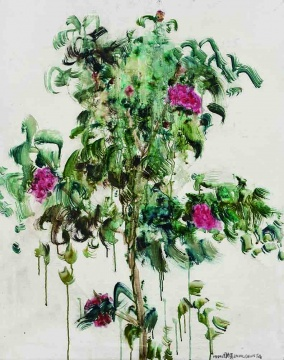 Lot 126 周春芽《花》 100 x 79.9 cm 油彩画布 1999 估价:70-90万元