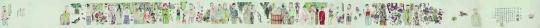 Lot 134 李津《两只蝴蝶》 51.8 x 1389.2 cm 彩墨纸本 2006 估价:120-220万元
