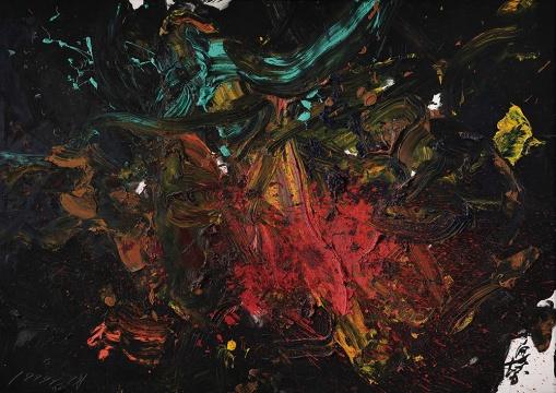 Lot 157 白发一雄《秘火》185 x 262.5cm 油彩画布 1999 估价:1500-2500万港元