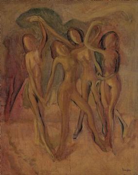 Lot 176 朱沅芷《舞者》 92 x 73 cm 油彩画布 估价:150-250万港元