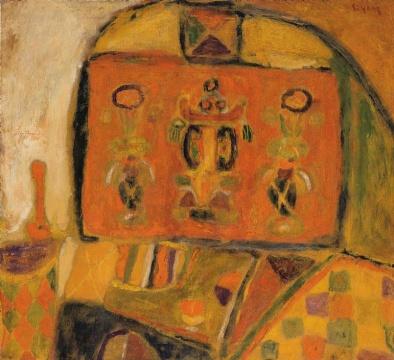 Lot 136 尚扬《灶台》82 x 90 cm 油彩画布 1988 估价:300-500万港元