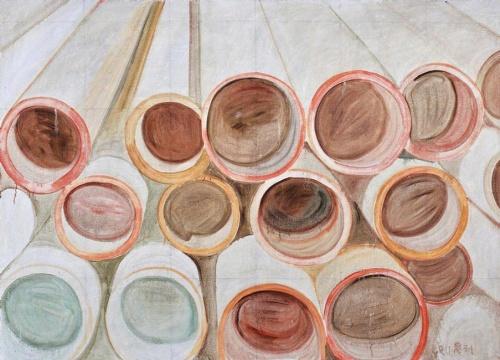 Lot 240 张恩利《排水管》170 x 235 cm 油彩画布 2011 估价:150-250万港元