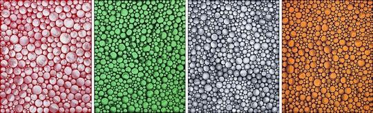 Lot 156 草间弥生《圆点的积累;绿之季节;圆点的积累;及夕照》 91 x 290.8 cm(共四件) 亚克力画布 1999 估价:500-700万港元