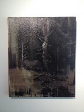 吕松 《黑林》 50×60cm 布面油画 2014